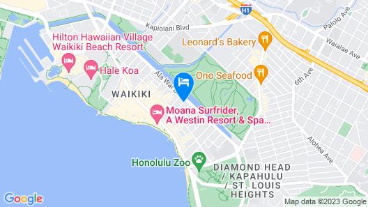 Waikiki Sand Villa Hotel Map