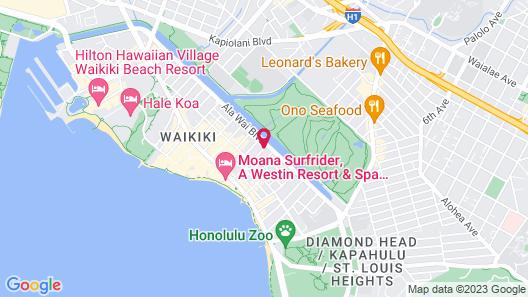 Aqua Aloha Surf Waikiki Map