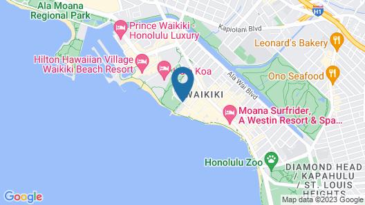 Waikiki Shore by Outrigger Map