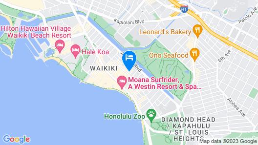 Pearl Hotel Waikiki Map