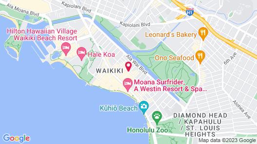 Ohia Waikiki Studio Suites Map
