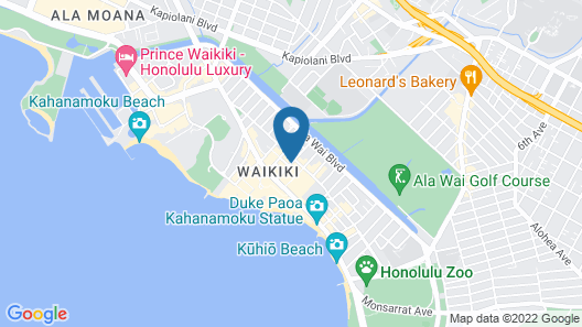 Tropical Studios at Marine Surf Waikiki Map