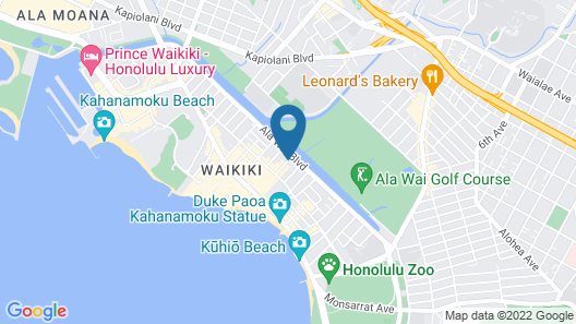 Waikiki Beach Condominiums Map