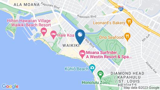 Hyatt Centric Waikiki Beach Map
