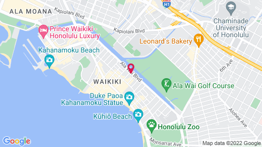 Holiday Surf Hotel Map