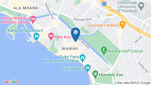 Courtyard by Marriott Waikiki Beach Map