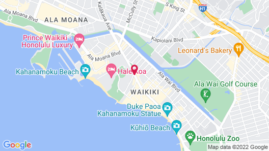 The Ritz-Carlton Residences, Waikiki Beach Map