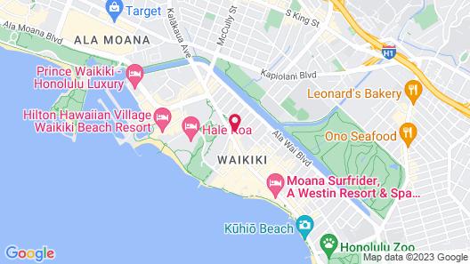 Real Select at The Ritz-Carlton Residences, Waikiki Beach Map