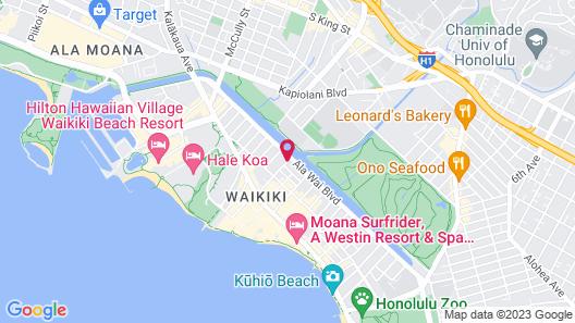 Coconut Waikiki Hotel Map