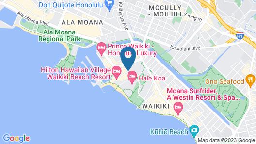 Hilton Grand Vacations at Hilton Hawaiian Village Map
