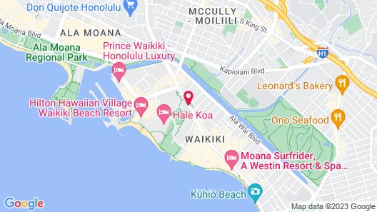 Luana Waikiki Hotel & Suites Map