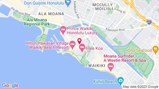 Hilton Hawaiian Village Waikiki Beach Resort Map