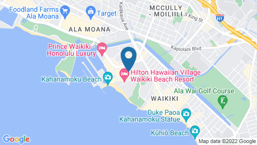Hilton Hawaiian Village Waikiki Beach Resort Map