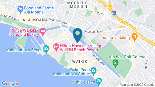 Club Wyndham Royal Garden at Waikiki Map