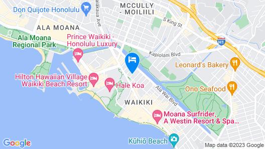 Ambassador Hotel Waikiki Map