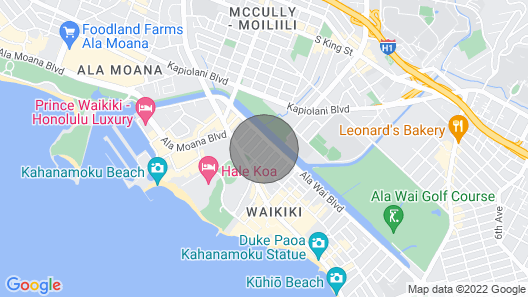 Waikiki - Studio Condo at The Wyndham Royal Garden! Map