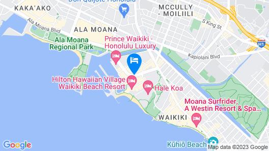 Ramada Plaza by Wyndham Waikiki Map
