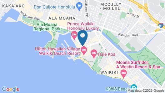 Marina Hawaii Vacations at the Ilikai Tower Map