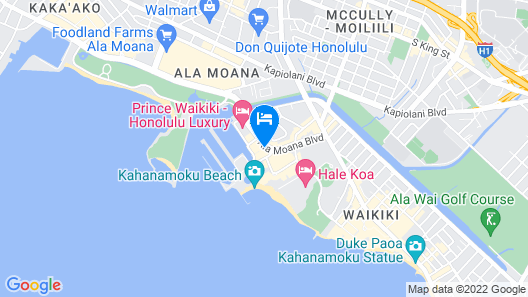 Waikiki Marina Resort at the Ilikai Map