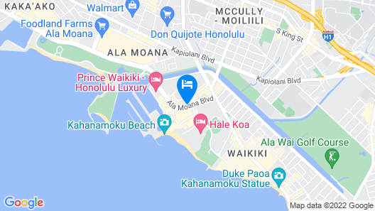 Aqua Palms Waikiki Map