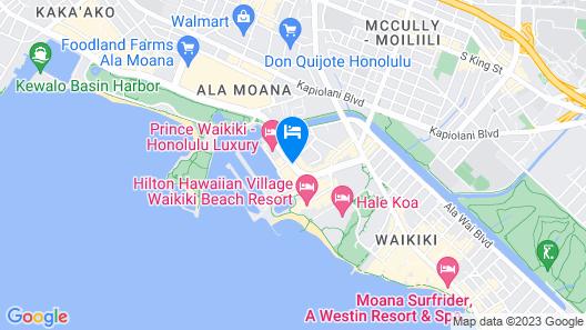 The Modern Honolulu by Diamond Resorts Map