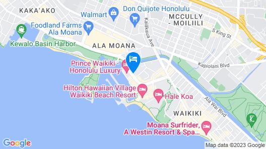 Marina Tower Waikiki Map