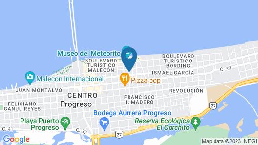 Hotel Y Restaurante Yaxactun Map