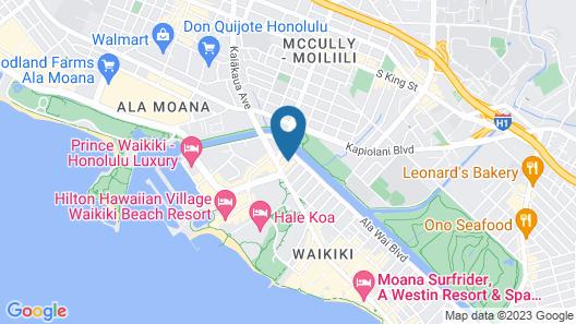 Waikiki Monarch Hotel Map