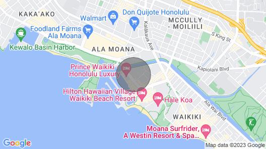 Beautiful 38th Fl ocean view studio in Waikiki w/ free parking & W/D Map