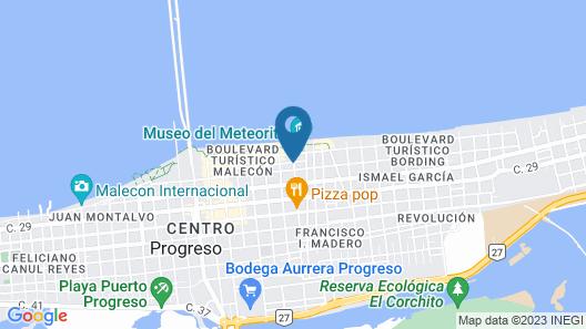 Mayab Suites Hotel Map
