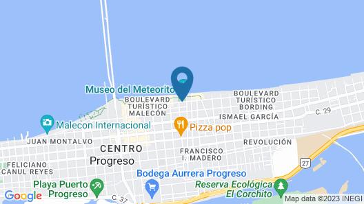 Progreso Beach Hotel Map
