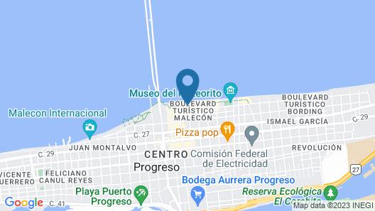Hotel Playa Linda Map