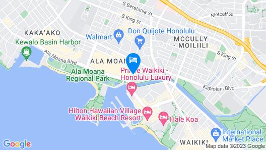 Ala Moana Hotel by LSI Resorts Map