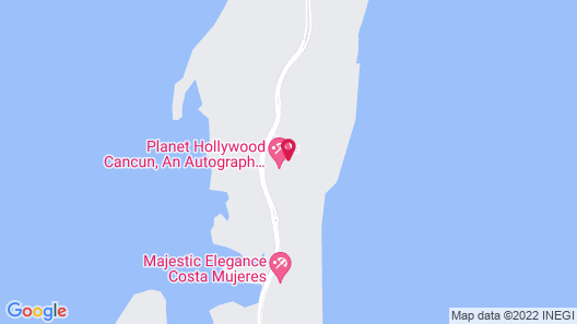 Planet Hollywood Beach Resort Cancun - All Inclusive Map
