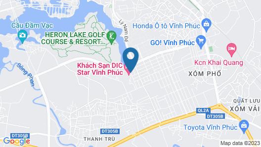 DIC Star Hotels & Resorts Vinh Phuc Map