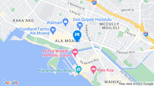 Gaia Hawaii at Ala Moana Hotelcondo Map