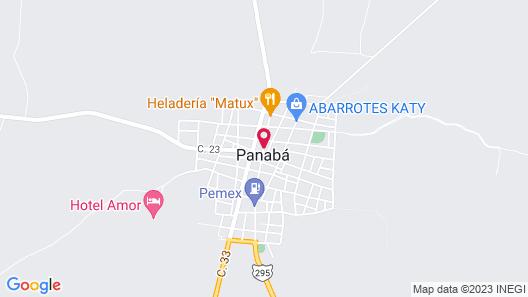 Cenote La Xtabay Map