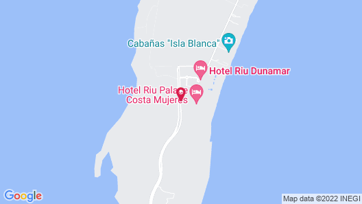 Riu Palace Costa Mujeres-All Inclusive Map