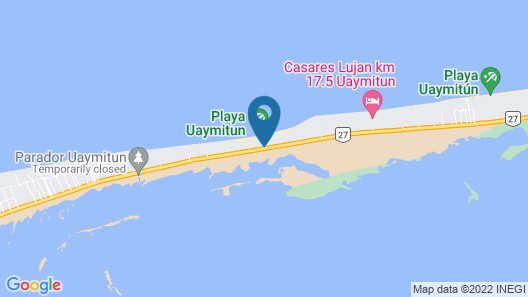 3 BR Apartment & Great Beach at Uaymitún Map