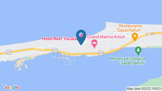 Reef Yucatan All Inclusive Hotel and Convention Center Map