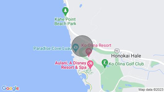 Beachfront 2 Br/2ba Condo With Garden and Golf Course Views Map
