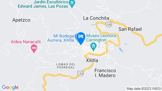 Posada Inkali Xilitla Map