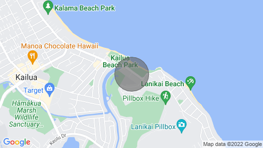 Legal Rental Just Steps to Kailua Beach, Pool, Jacuzzi, Bikes, A/C Map