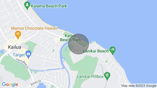 Than 2 Minute Walk To Kailua Beach, Pool, Bikes, Bbq, A/C Map