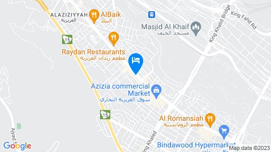 Afraa Hotel Map