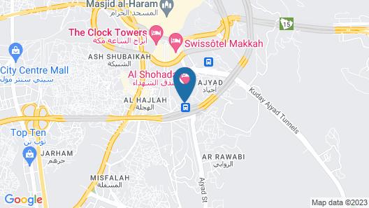 Infinity Hotel Makkah Map