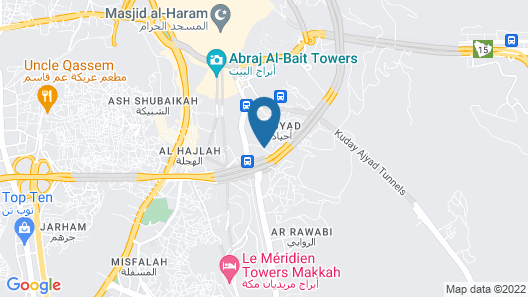 Sama Ajyad Hotel Map
