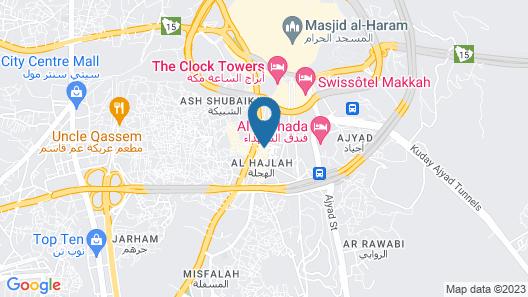 Maather Al Jiwaar Hotel Map