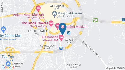 Makarem Ajyad Makkah Hotel Map