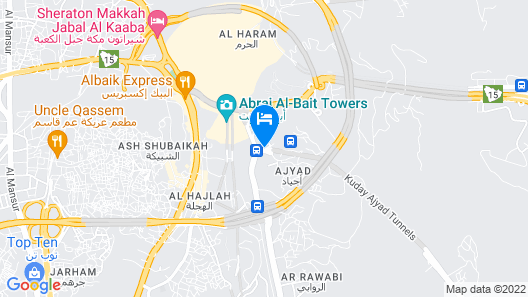 Ajyad Crom Hotel Map